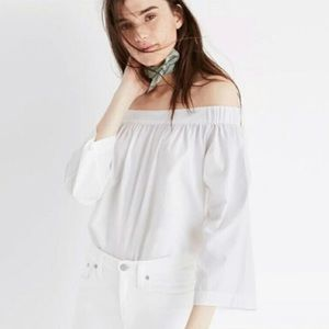 ✨ Madewell Clean Off the Shoulder Blouse ✨